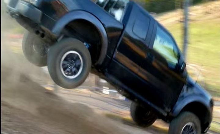truck on motocross track